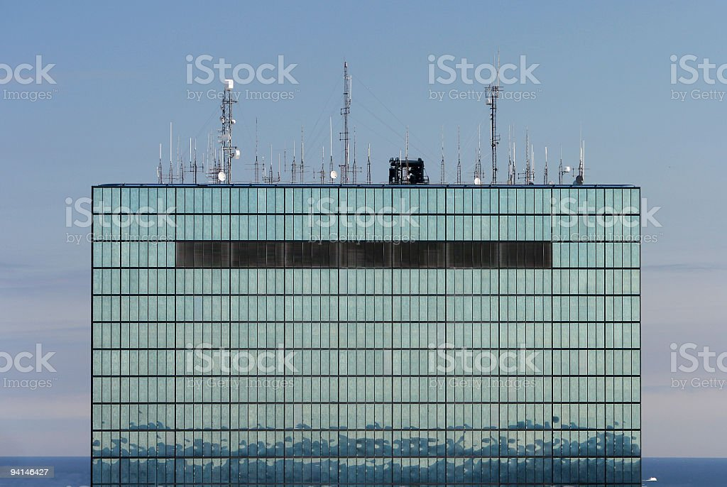 Antennae on a tower. royalty-free stock photo