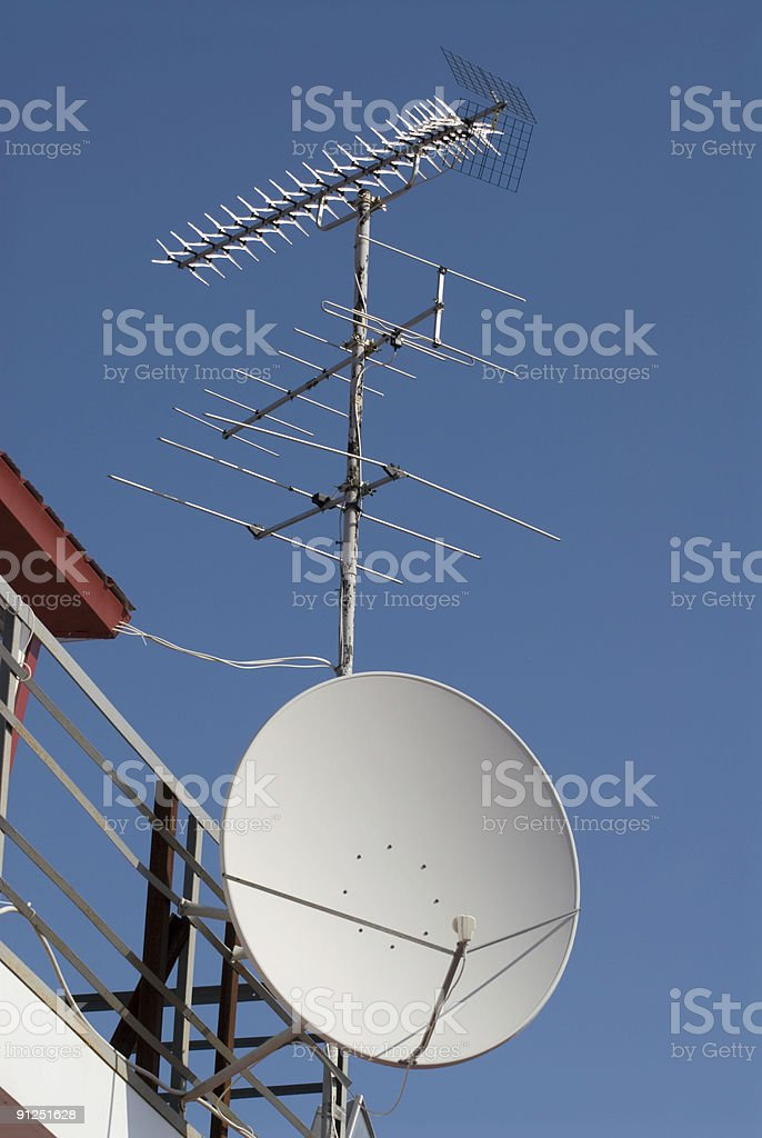 Antennas of different types royalty-free stock photo