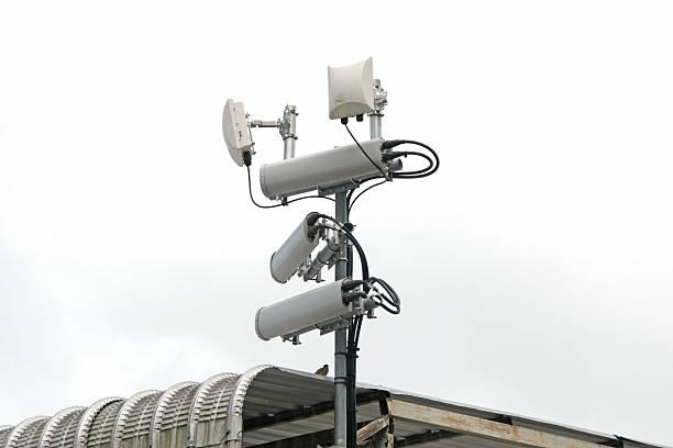 Antennen von mobile Handy systems mit W-LAN-Hotspot hochziehen – Foto