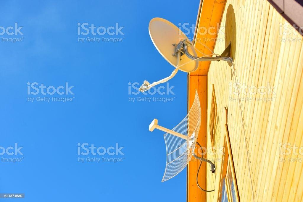 Антенны на дом Стоковые фото Стоковая фотография