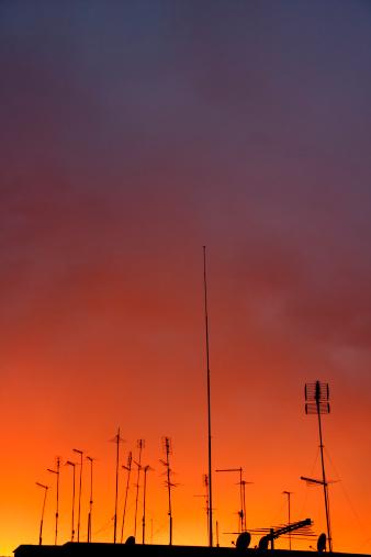 istock antennas on sunset 152157621