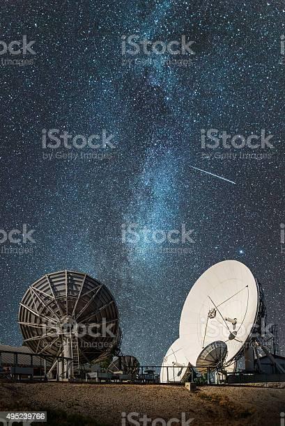 Photo of Antennas under the milky way