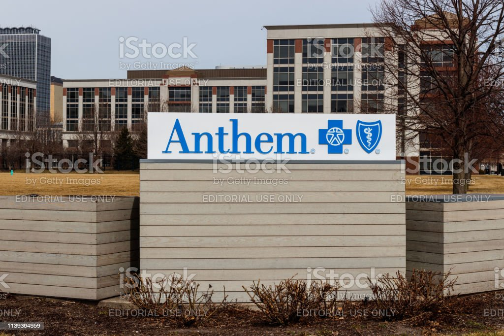 Anthem World Headquarters. Anthem is a Trusted Health Insurance Plan Provider stock photo