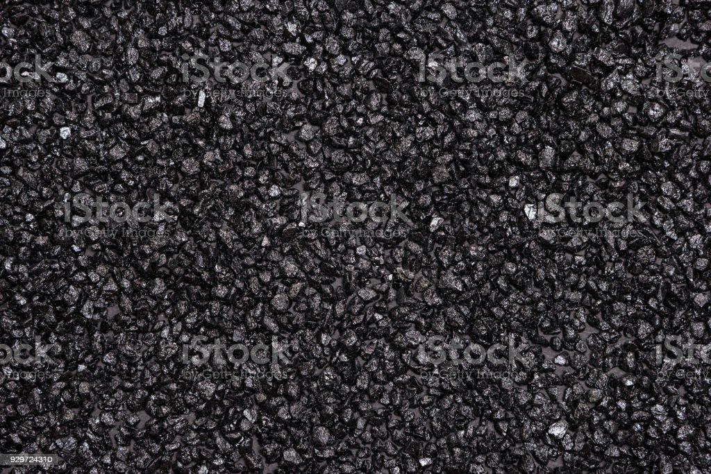 Anthracite black small stones texture stock photo