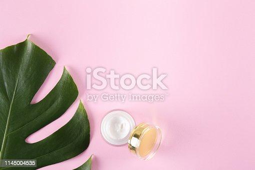 istock Anti aging cream and skincare concept. 1145004535