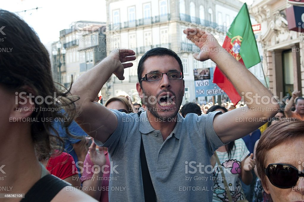 anti austerity protest royalty-free stock photo