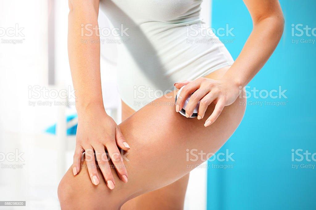 Anti cellulite massage. stock photo