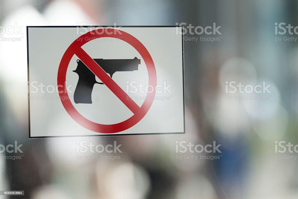 Anti Gun stock photo