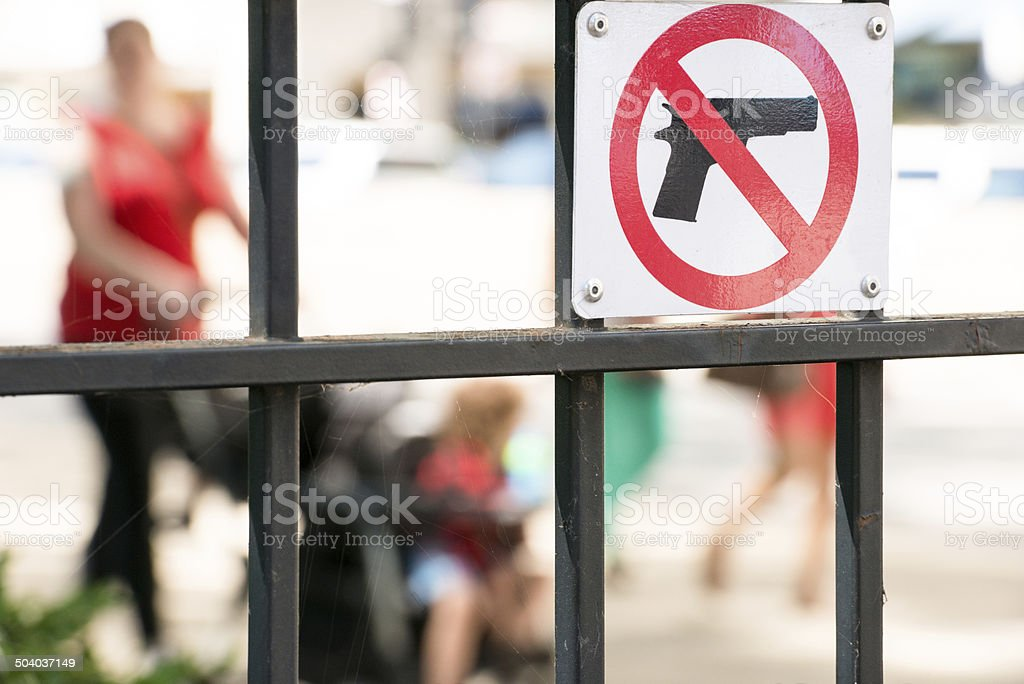 Anti Gun Sign stock photo
