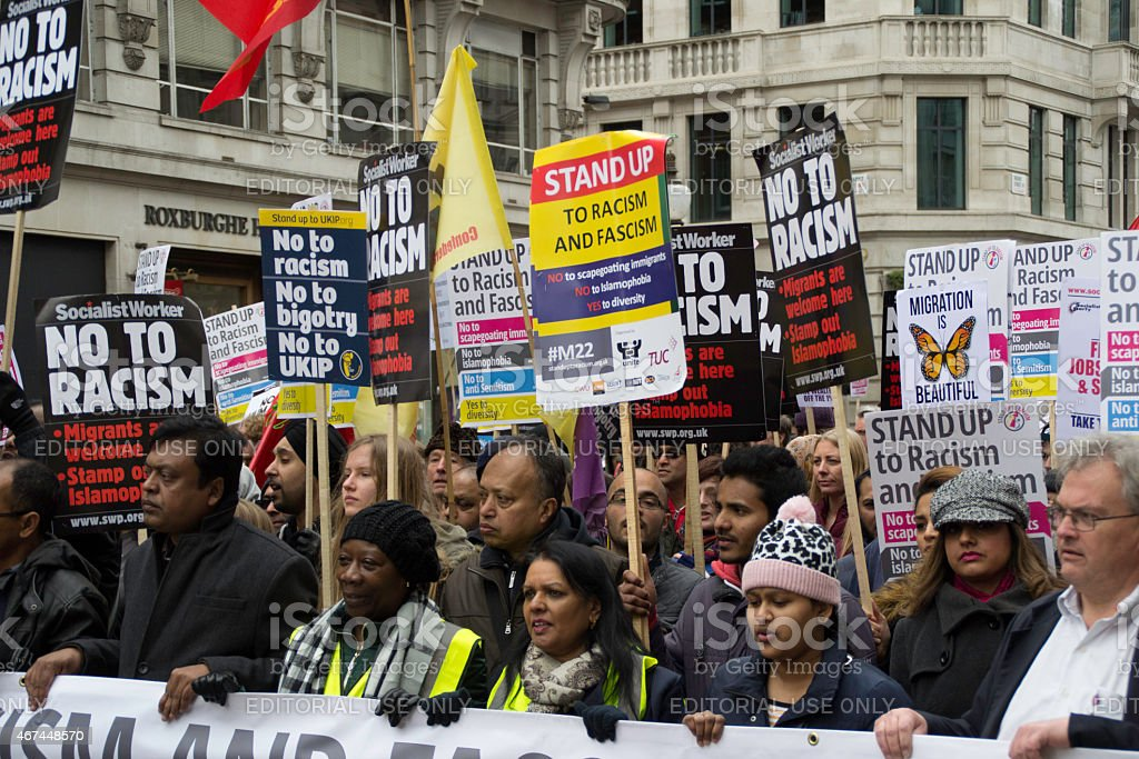 Anti Racism Protesters stock photo