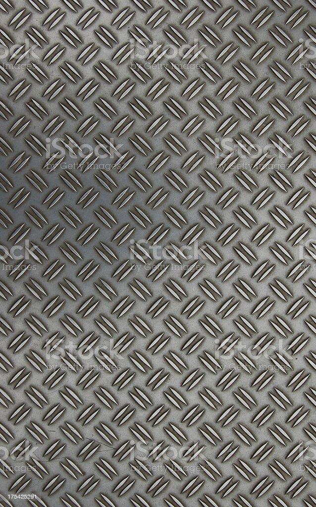 anti skid metal plate flooring royalty-free stock photo