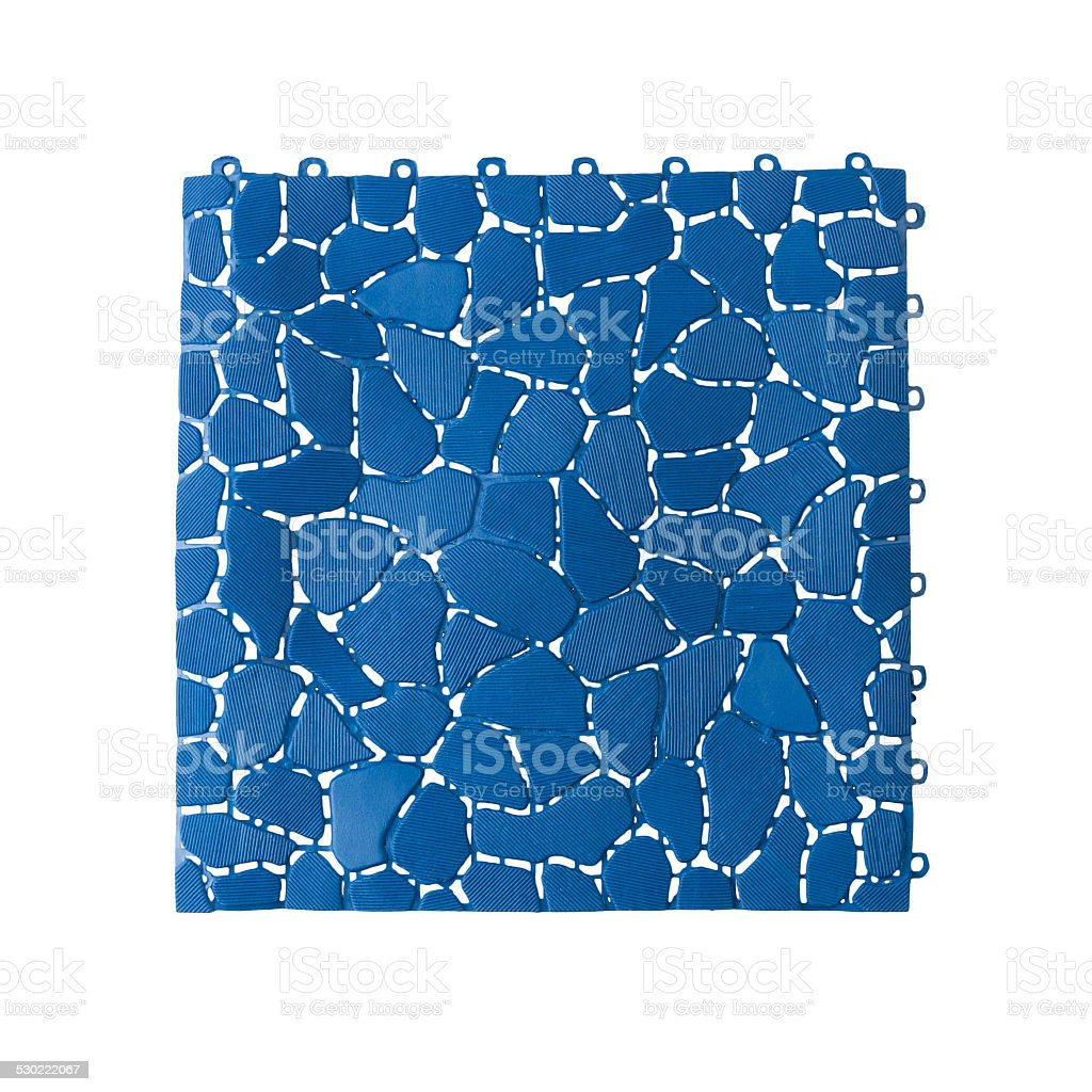 Anti slip plastic tile stock photo