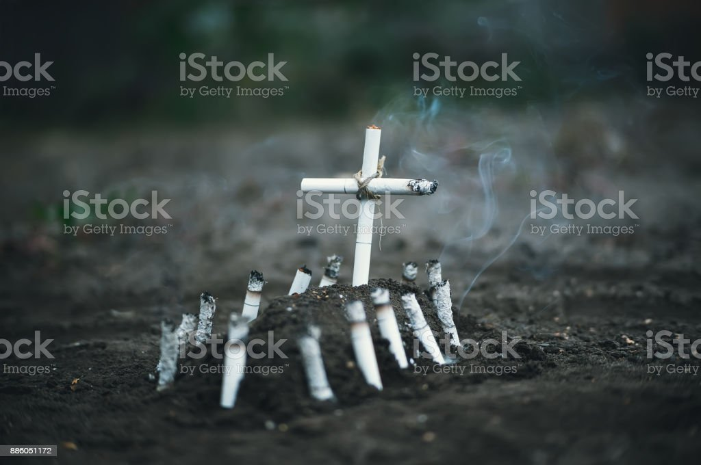 Anti tobacco a conceptual photo. stock photo