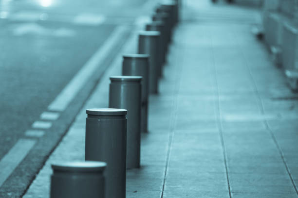 Anti truck bollards in the city of Nice Anti terrorism anti truck bollards in the city of Nice counter terrorism stock pictures, royalty-free photos & images