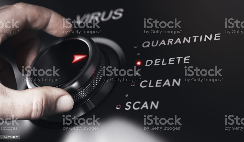 Anti Virus Protection, Detection and Removal Program stock photo