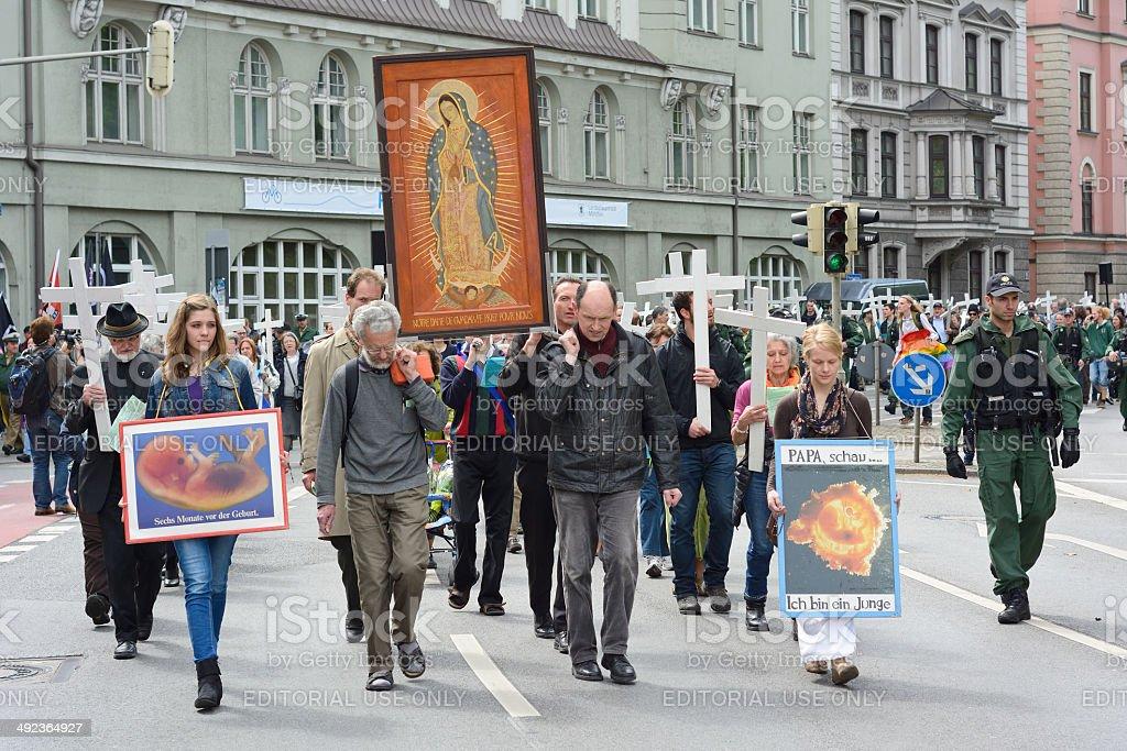 Anty-poronieniem Demonstracja – zdjęcie
