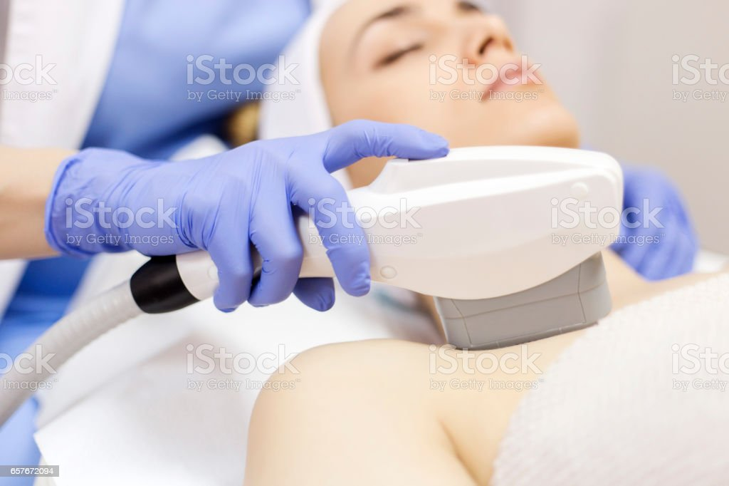 Antiaging Treatment Ipl Laser Photo Skin Therapy Stock Photo