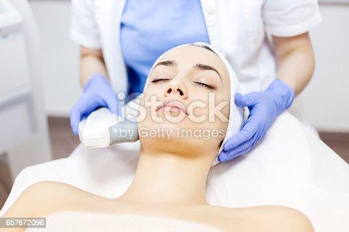 istock Anti-aging treatment, IPL laser, photo skin therapy 657672096