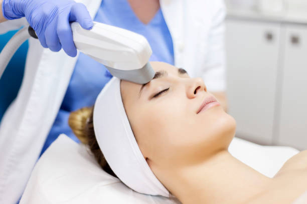 Anti-aging treatment, IPL laser, photo skin therapy Anti-aging treatment, IPL laser, photo skin therapy antiaging stock pictures, royalty-free photos & images