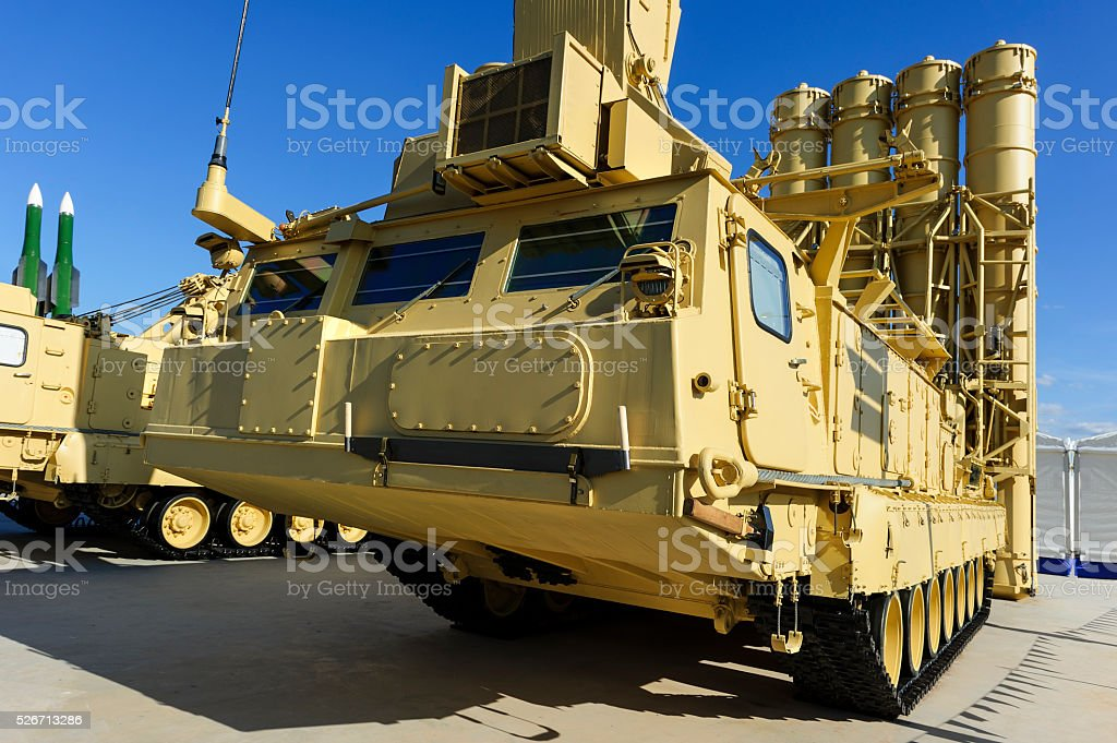Antiaircraft missile complex stock photo