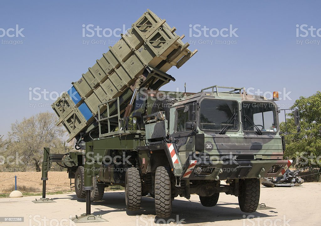 Anti-aircraft missile system royalty-free stock photo