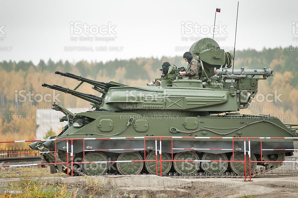 Antiaircraft missile system ZSU-23-4M4 Shilka-M4 stock photo