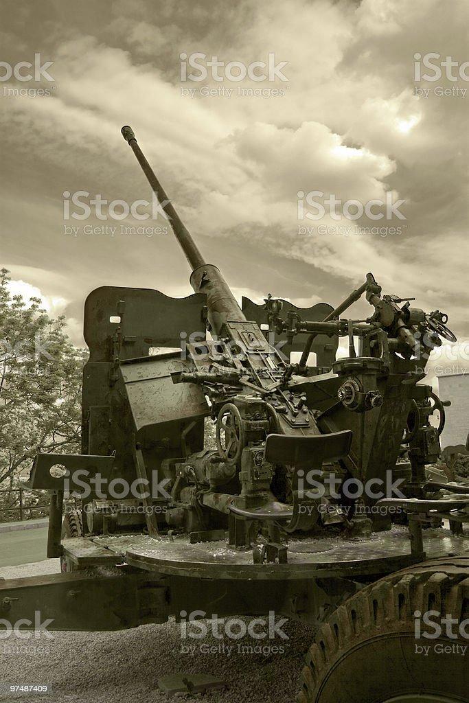 Anti-aircraft war machine royalty-free stock photo