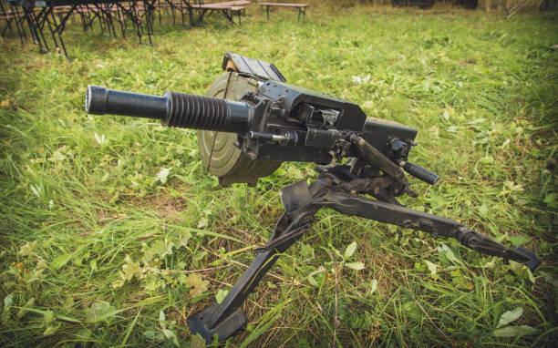 Lanzador de la Granada del antiarmor arma en tierra - foto de stock