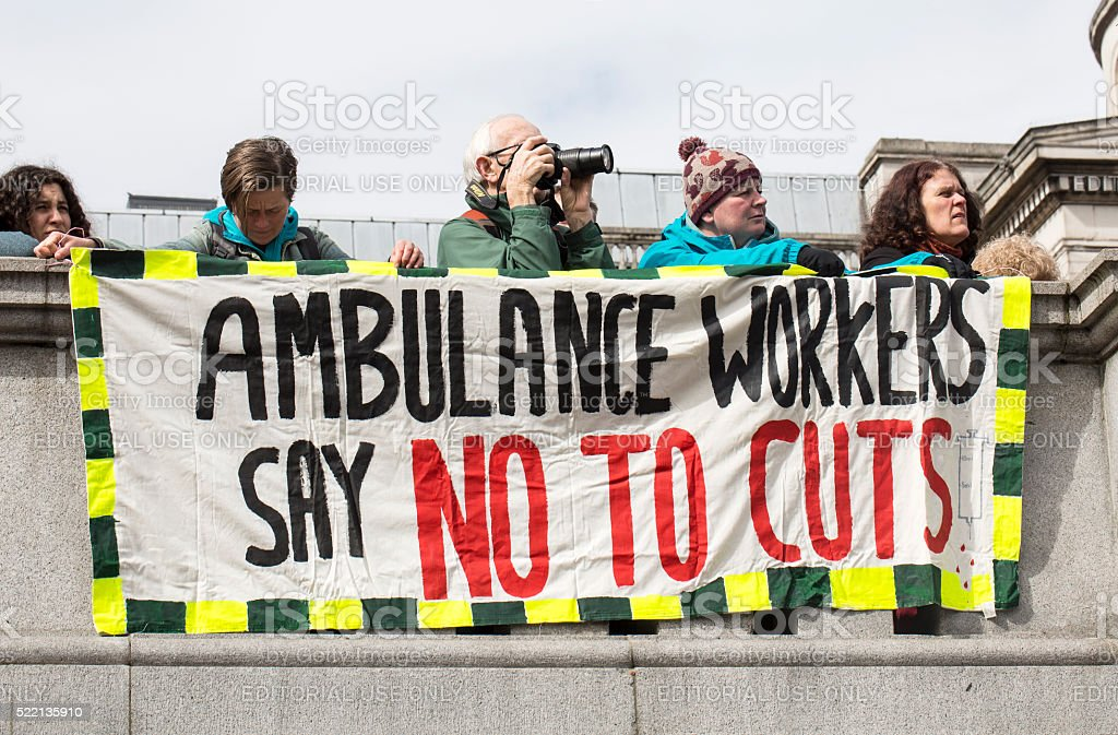 Anti-Austerity March. stock photo