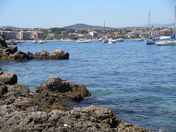 Antibes coastline stock photo