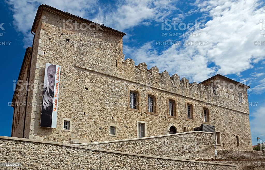 Antibes - Grimaldi Castle stock photo