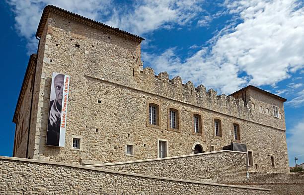 Antibes - Grimaldi Castle stock photo