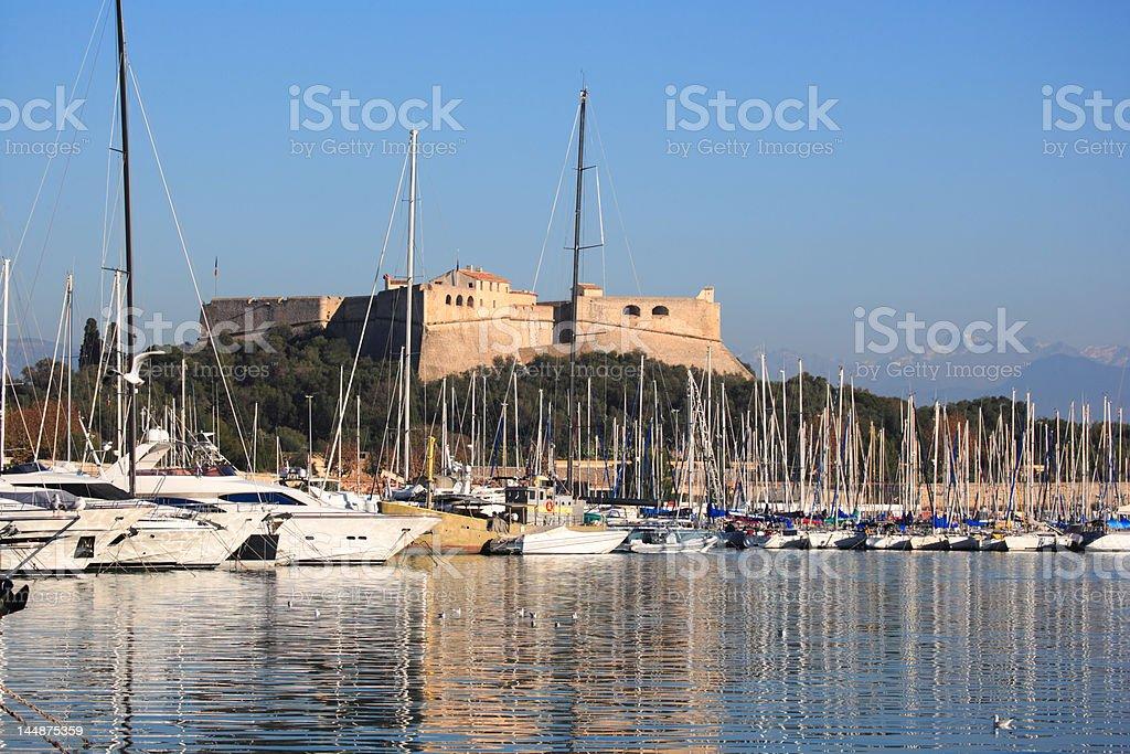 Antibes harbor (XXL) royalty-free stock photo