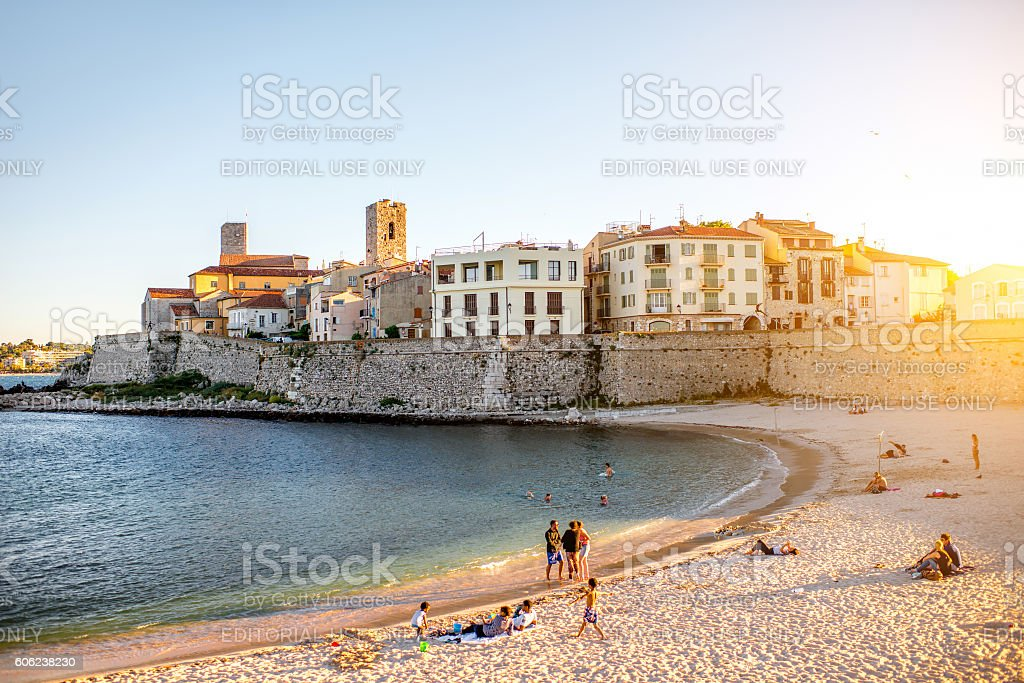 Antibes in France stock photo