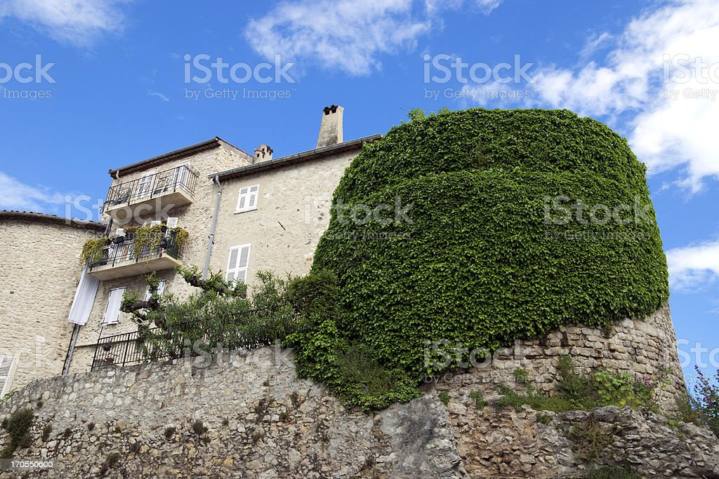 Antibes - Old stone house royalty-free stock photo