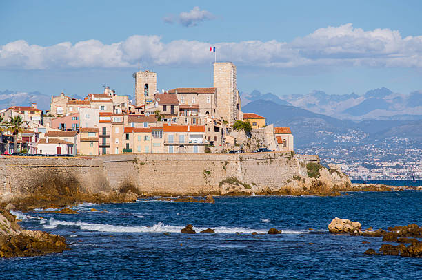 Antibes old town stock photo