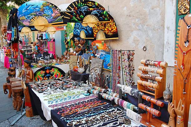Antibes - souvenirs stock photo