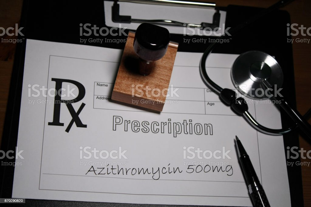 Antibiotic Prescription stock photo