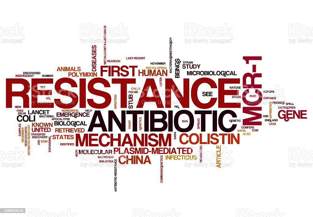 Antibiotic Resistance concepts,isolated on white background stock photo