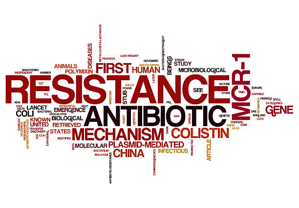 Antibiotic Resistance concepts,isolated on white background MCR-1 Antibiotic Resistance antibiotic resistant stock pictures, royalty-free photos & images