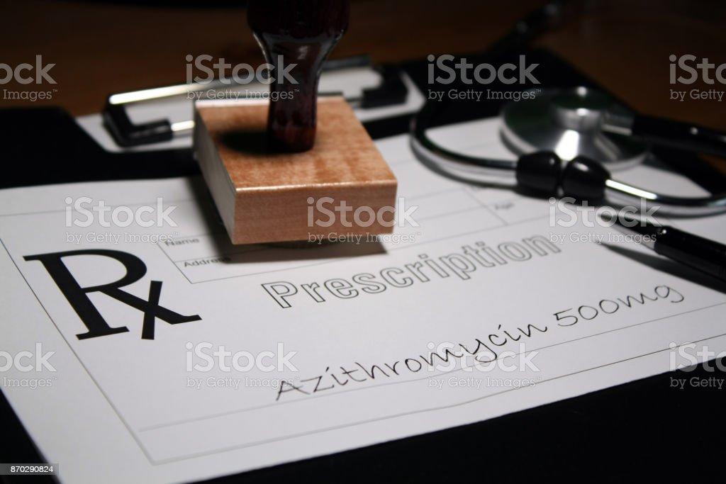 Antibiotics stock photo