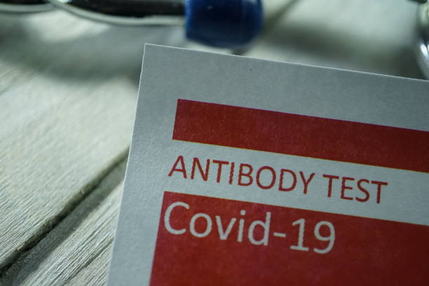 antibody test - anticorpo foto e immagini stock
