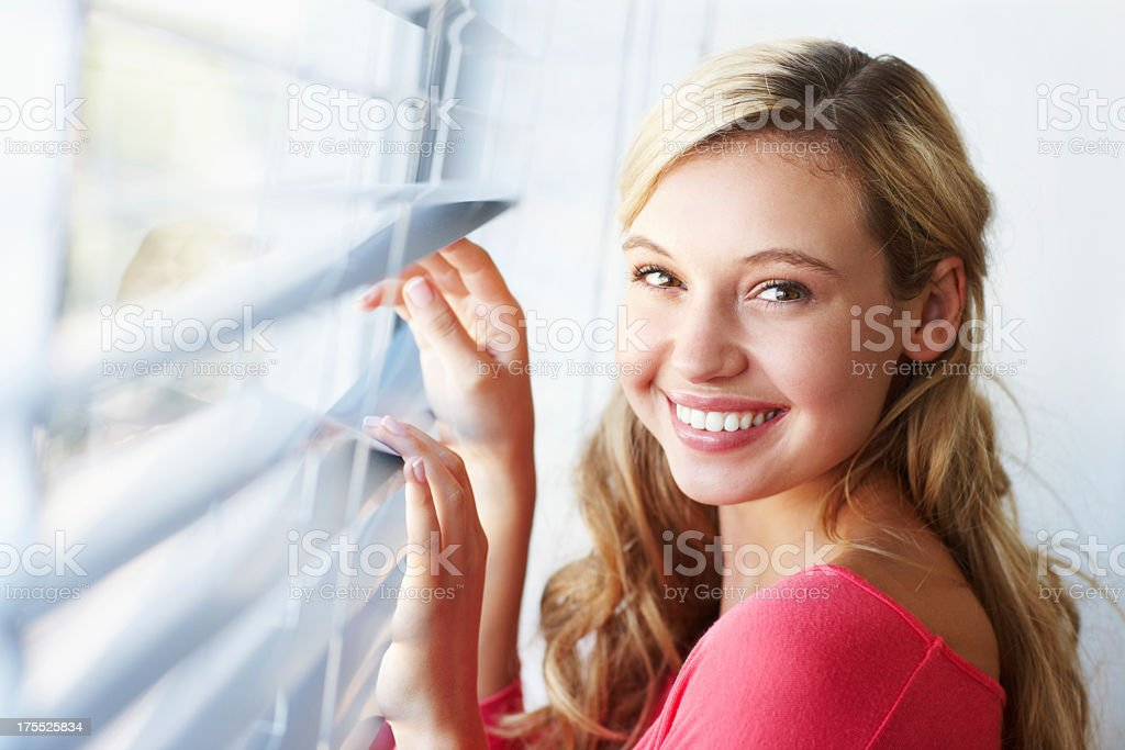 Anticipating the arrival of somebody special! royalty-free stock photo