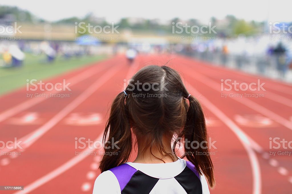 Anticipation at the start of a race royalty-free stock photo