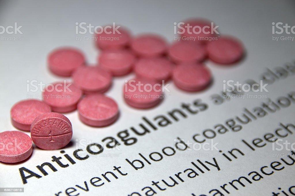 Anticoagulant Warfarin stock photo