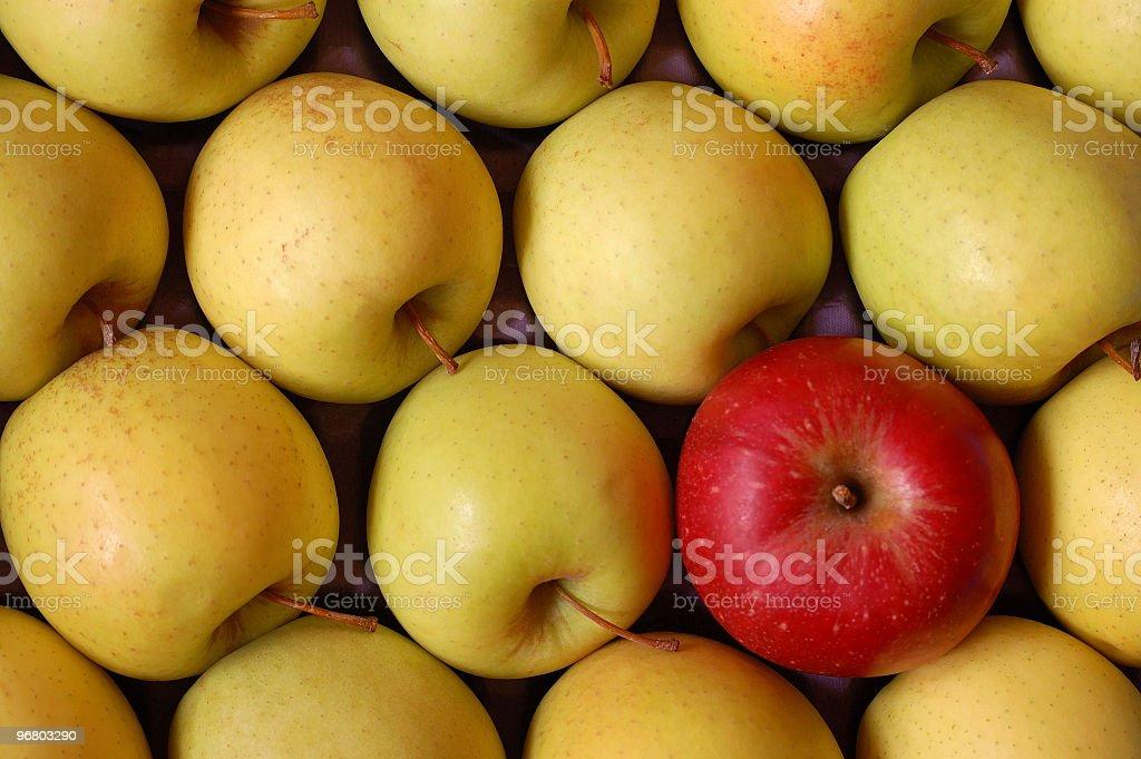 Anticonformist Apple royalty-free stock photo
