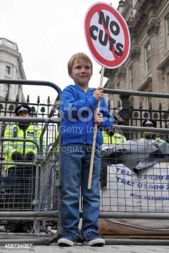 istock Anti-Cuts Protest in London 458734057
