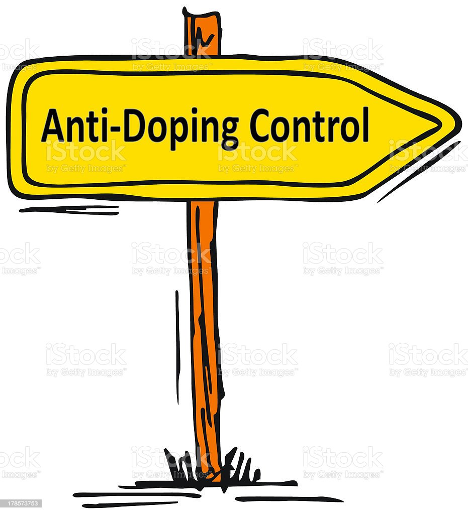 anti-doping control stock photo