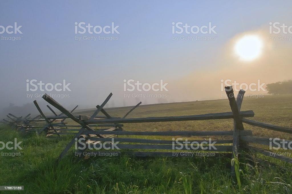 Antietam Sunrise royalty-free stock photo