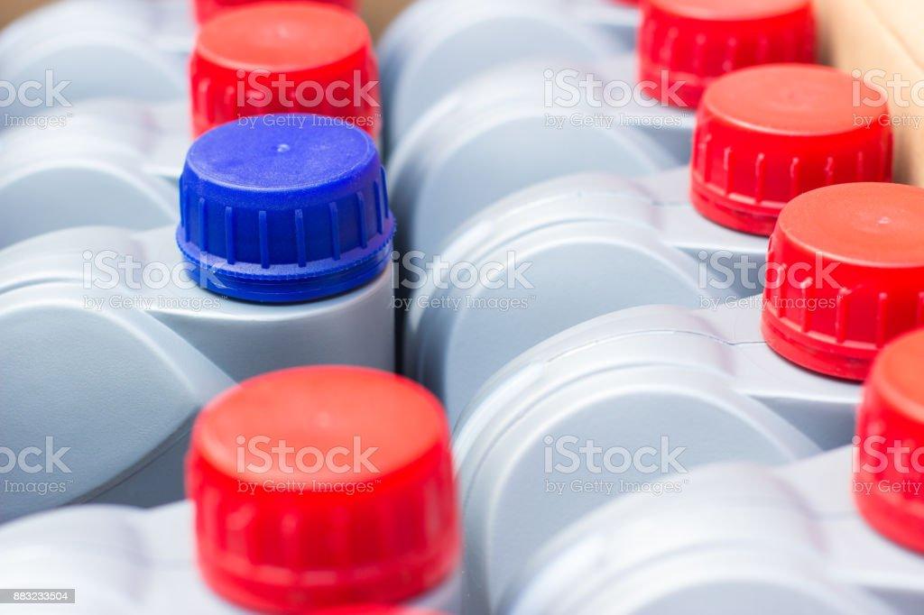 antifreeze bottle stock photo